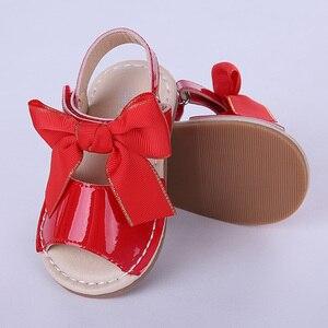 Image 5 - Pettigirl ฤดูร้อนเด็กผู้หญิงรองเท้าแตะรองเท้าหนังไมโครไฟเบอร์ Bowknot Beach รองเท้าเด็กขนาด (ไม่มีกล่องรองเท้า)