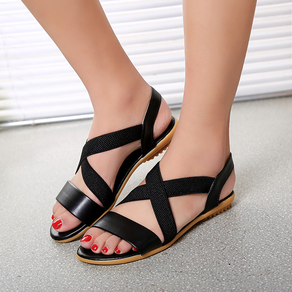 Sandals Summer Hot Sale Fashion Gladiator Cross Strap Shoes Women Flats Sandals Comfortable Ladies Open toe Shoes 2018 women sandals hot sale platform heel sandals ladies casual shoes flats women fashion