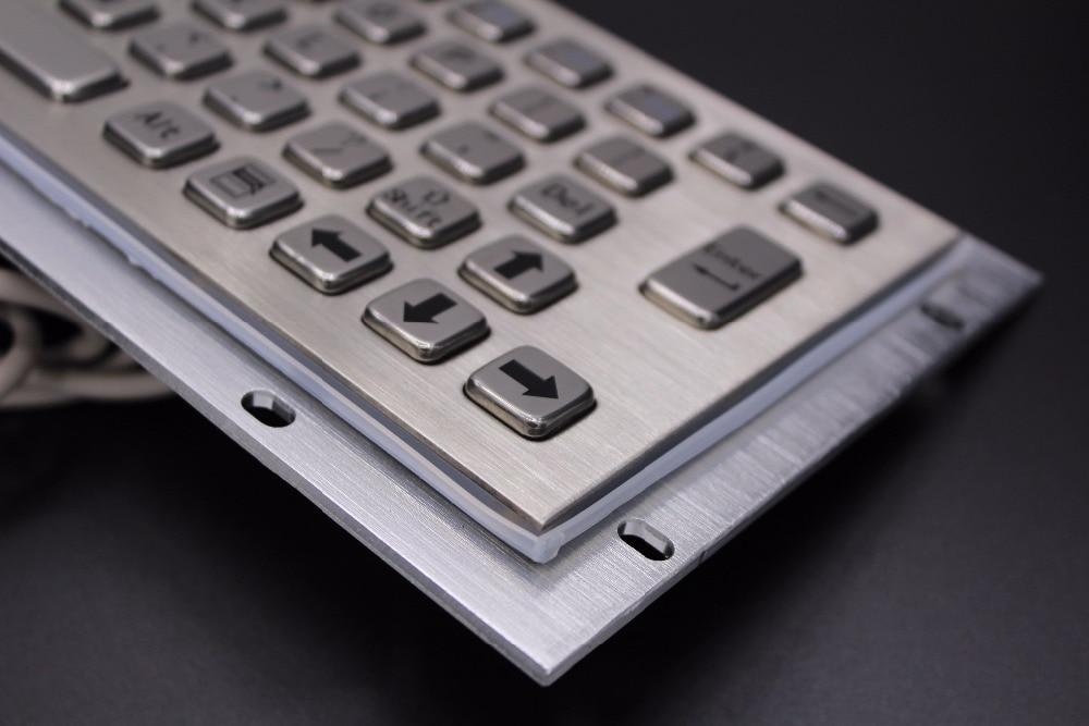 Kiosk Metal Keypad Stainless steel vandal proof panel mount Industrial Mini Keyboard metallic keyboard key caps in Keyboards from Computer Office
