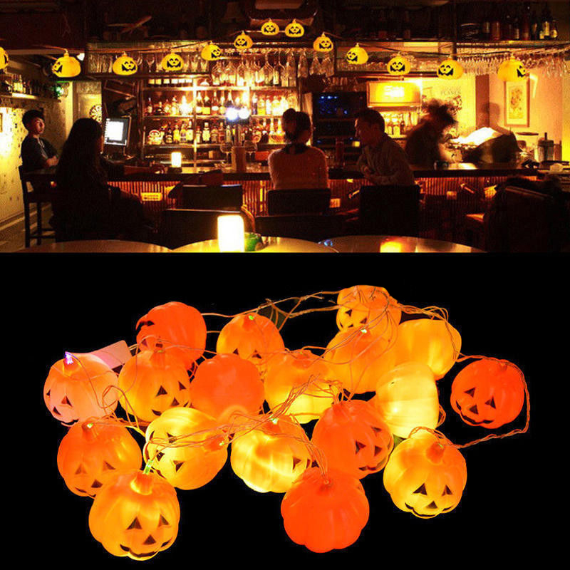 mayitr 16 led pumpkins string light pumpkin lights for halloween decoration supplies diy home party decor