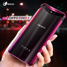 GKK Plating Case Oppo Find X Transparent Magnetic Anti-shock Hard PC Clear Thin Back Cover for Coque