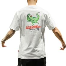 M-5XL 4XL 2019 dragon print dinosaur casual summer round neck men t shirt slim fit tee shirt homme print short sleeve tee letter print round neck tee