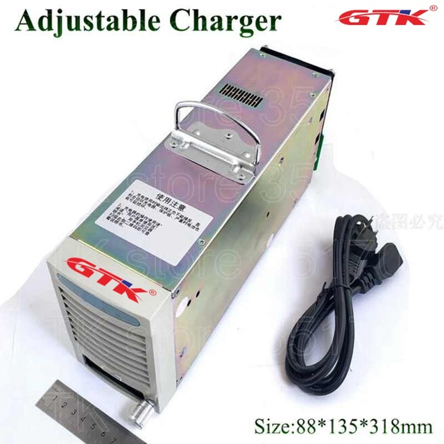 GTK Adjustable 120v 25A fast speed charger quick for LTO Lithium titanate battery lifepo4 charger RV EV 110v 60V 30A 3KW power