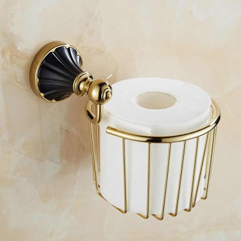 Antyczne czarne złoto ze stali nierdzewnej akcesoria łazienkowe półka na ręczniki wieszak na ręczniki uchwyt na papier tkaniny hak mydelniczka YD-465