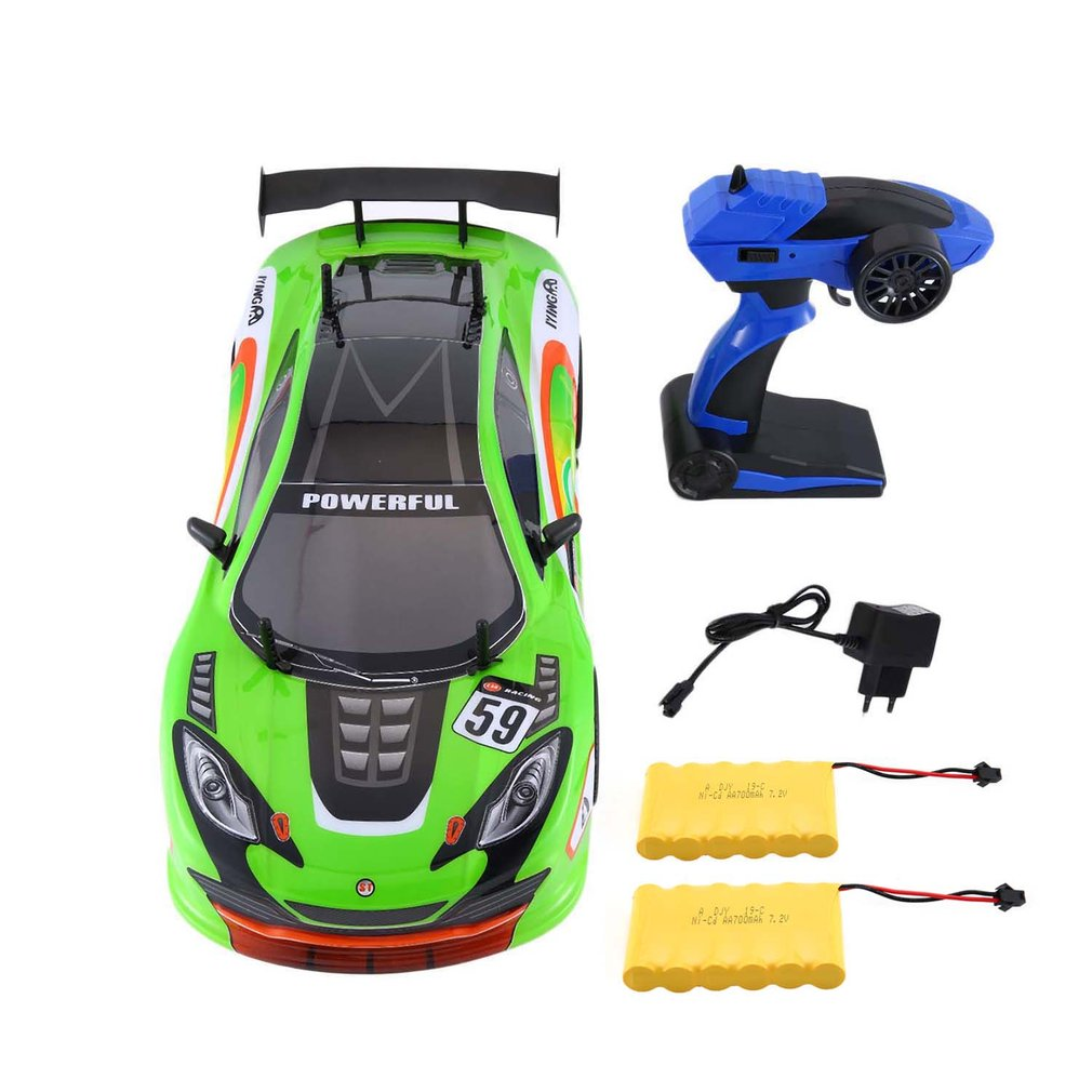 1/10 1400mAh 2.4G Racing Car 1:10 RC Model Car 25KM/h Flat Sports Drift Vehicle Toys 2 Batteries EU Plug For Children1/10 1400mAh 2.4G Racing Car 1:10 RC Model Car 25KM/h Flat Sports Drift Vehicle Toys 2 Batteries EU Plug For Children
