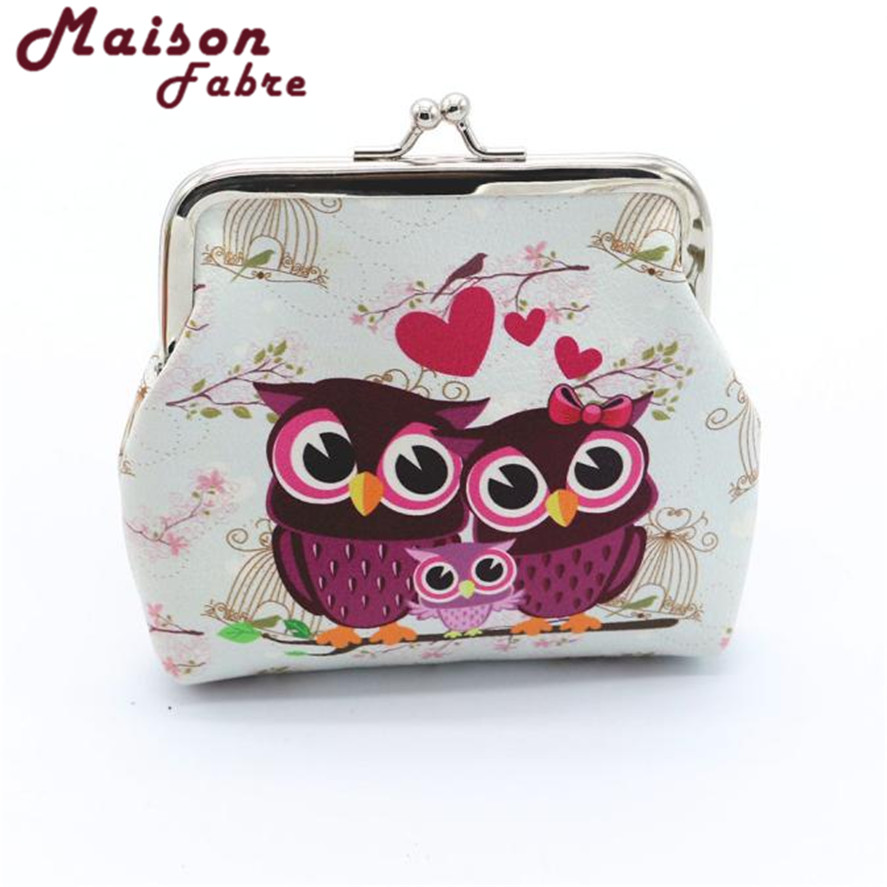 Brand New MINI Coin Purses For women girls 1pc Portable Lady Retro Vintage Owl Small Wallet Hasp Purse Clutch Bag Coin Purses 2017 purse owl se cute wallets for children lovely coin purses for women mini bags for girls trinket small pouch wallet card zip