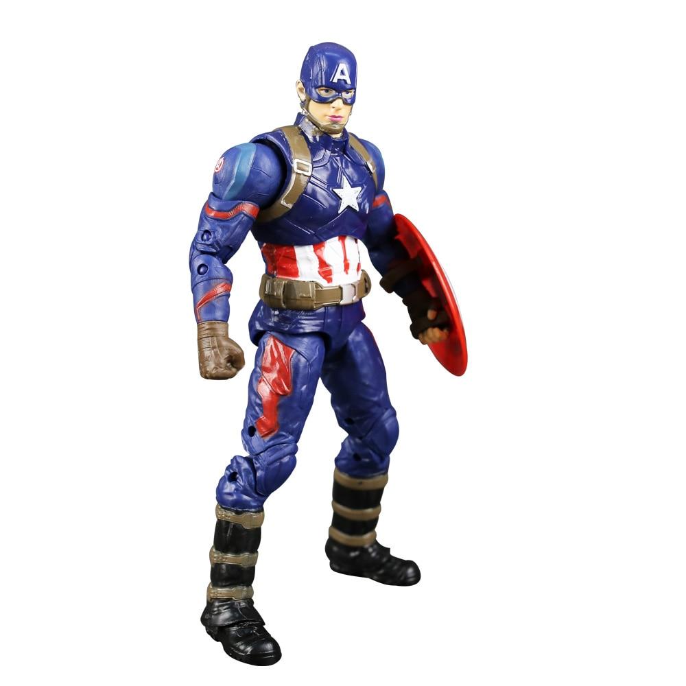 Los Vengadores súper héroe Capitán América civil Clint Iron Man - Figuritas de juguete - foto 4