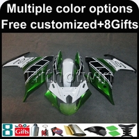 8Gifts Green White FZ6R 2009 2010 2011 2012 ABS Motorcycle Fairing For YAMAHA