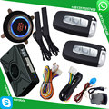 shock sensor car alarm system with keyless auto lock or unlock car door bypass output for chip key immobilizer car hopping code