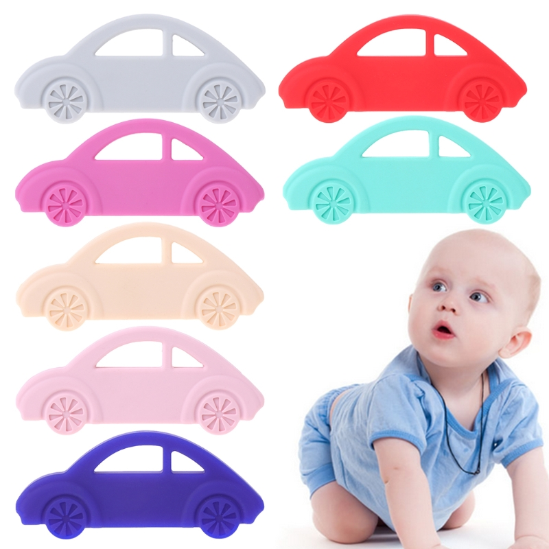 Baby Teether Silicone Car Teething Toys Necklace Newborn Chewing Infant Nursing ...