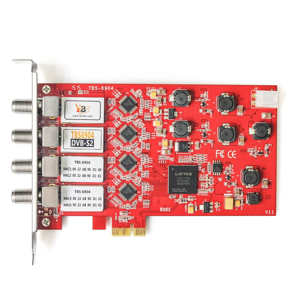 NEW TOP TBS6904 DVB-S2 Quad Tuner PCIe Card 4 TUNER S2 DVB-S DVB-S2 Four channel satellite receiver цена