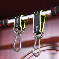 1pc Multifunction Fitness equipment hook Ring Hanging Belt with Hook Hanging Sandbag Pull Up Rope Fitness Equipment Accessories