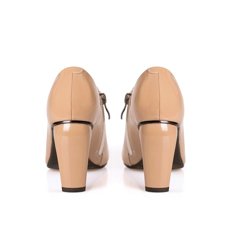 Véritable Pointu Up Stiletto noir Élégant Talons Haute Sexy Femmes Ins Apricot Doratasia Pompes Bout Chaussures De 2019 Party Cuir Zip qX8AB