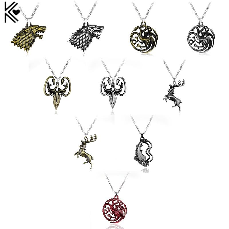 Игра ожерелье троны Старк семья Лев волк, дракон олень Ланнистер Таргариен Старк Баратеон Arryn Greyjoy членов семьи