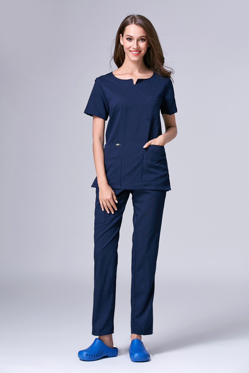 Buy new arrival european o neck hospital for Spa uniform europe