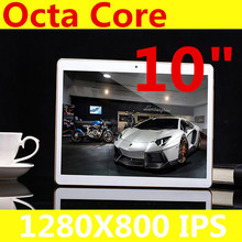 "10 ""Tableta de la pulgada 1280X800 IPS Android4.4 Octa Core RAM 4 GB + 32 GB 5.0MP GPS 10"" 3G MTK6592 Dual sim card Phone Call Tablets PC"