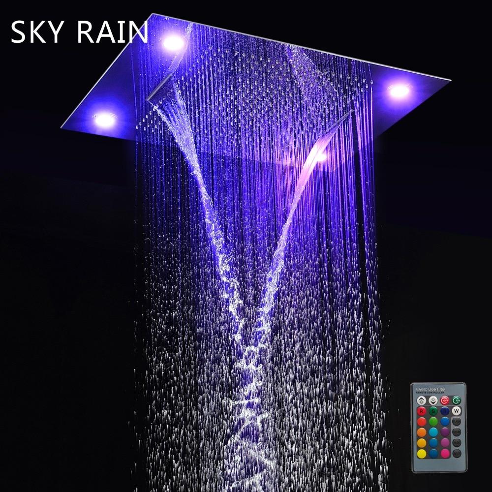 Небесный дождь консилер светодиодный потолочный Большой размер Многофункциональный дождь водопад спрей туман светодиодный набор для душа