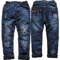 3972 denim и флис темно-синий джинсы boy брюки теплые брюки Double-deck толстые детская мода новый 2016