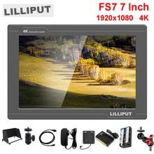 Lilliput FS7 7 pouces Full HD 1920x1200 4 K HDMI 3G SDI in/out avec batterie sur caméra moniteur de champ vidéo pour Sony PXW FS7 EVA1 cardan