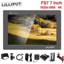 Lilliput Monitor de campo de vídeo para cámara, 7 pulgadas, Full HD, 1920x1200, 4K, HDMI, 3G SDI, entrada/salida con batería, para Sony PXW FS7, EVA1, cardán