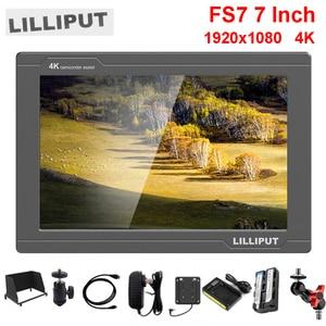 Image 1 - Lilliput Monitor de campo de vídeo para cámara, 7 pulgadas, Full HD, 1920x1200, 4K, HDMI, 3G SDI, entrada/salida con batería, para Sony PXW FS7, EVA1, cardán