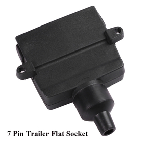 Image 3 - 12V Car Accessories 7 Pin Flat Trailer Socket 7 way  core pole  truck  male plug adapter Towing campe  Electrics Connector