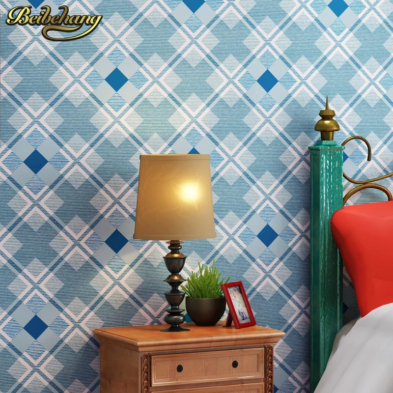 beibehang 3D wallpaper for walls living room bedroom TV background Papel de parede British Mediterranean Blue wall paper roll  недорого