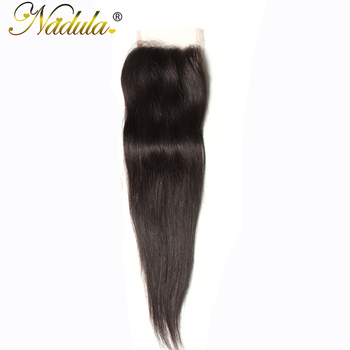 Włosy Nadula 10-20 cali peruwiański włosy naturalne proste włosy zamknięcie Remy włosy 4*4 wolna część szwajcarska koronka zamknięcie naturalny kolor tanie i dobre opinie 4 x 4 120 Peruwiański włosów Ręka wiążący Swiss koronki Wszystkie kolory 1 sztuka tylko Średni brąz Pure color