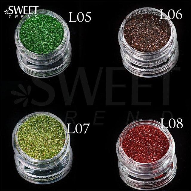 Shiny Laser Holographic Nail Glitter Dust Powder 2