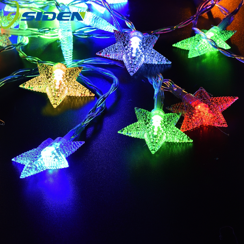 цена на OSIDEN Holiday light 8m 60led 10m 100 LED Solar String rgb star Fairy Lights Waterproof Outdoor Decorated Garden Christmas
