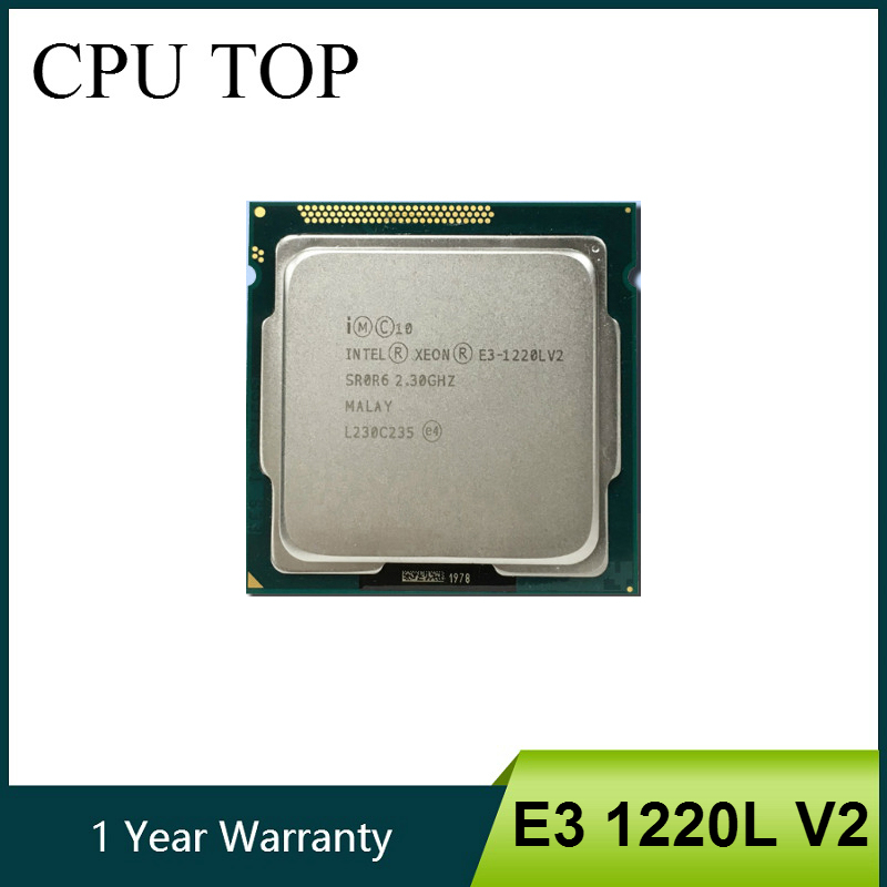 Intel Xeon E3 1220L V2 17W SR0R6 LGA 1155 2.3GHZ processor E3 1220L V2 CPU-in CPUs from Computer & Office