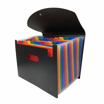 12/24 bolsillos Carpeta de archivos de expansión A4 organizador portátil de archivos de negocios suministros de oficina soporte de documentos Carpeta Archivador