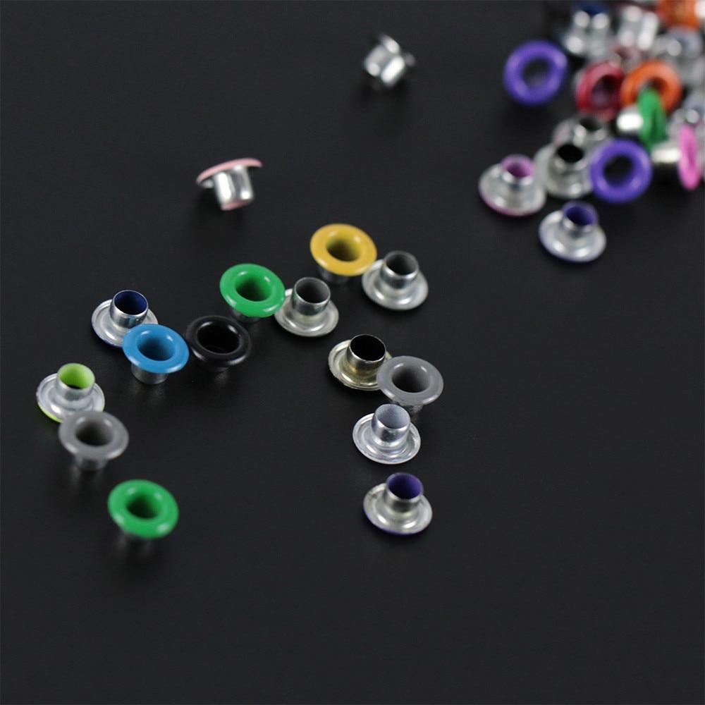 100pcs scrapbook eyelet random mixed color metal eyelets for Random diys