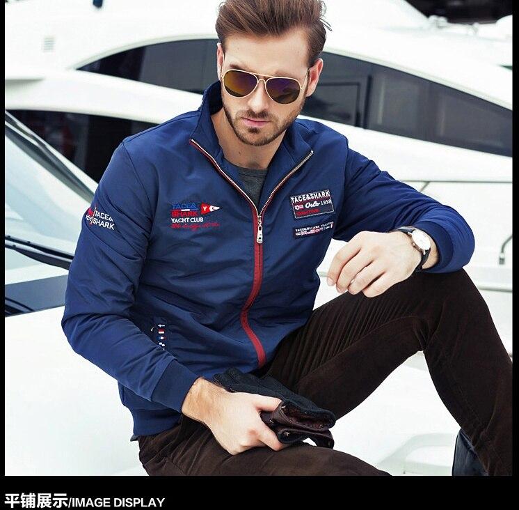 Tace&shark Brand clothing warm winter jackets men Billionaire winter jacket men Men Stand collar embroidery coat Leisure tace