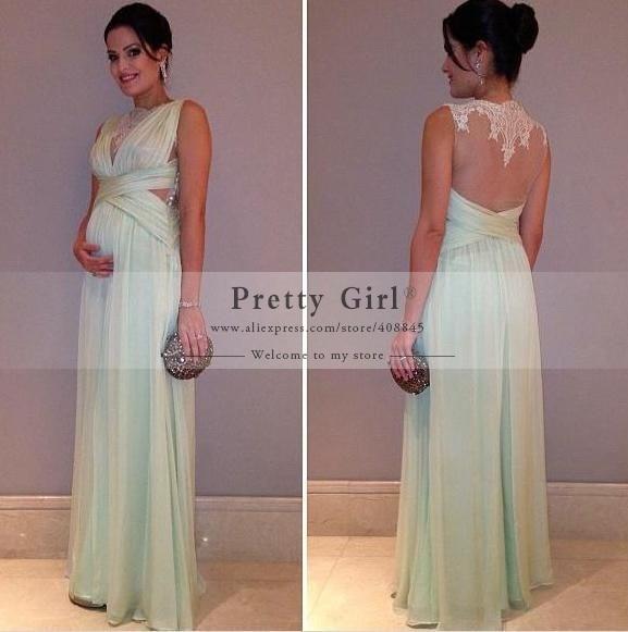 c4c8a6c3fb86d Custom Made 2016 Fashion Design Lace Scoop Pregnant Maternity Evening  Dresses Long Formal Gown Plus Size Dress Vestidos de festa