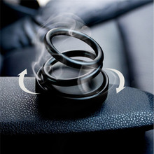 Car Double Ring Suspension Scented Perfume 360° Rotating Creative Scent Air Fresher Sticker