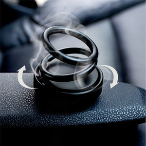 Image 1 - Car Double Ring Suspension Scented Perfume Double Ring 360° Rotating Suspension Car Creative Scent Car Air Fresher Car Sticker