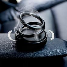 รถแหวนคู่ Suspension เทียนหอมน้ำหอมแหวนคู่ 360 ° หมุนแขวนรถสร้างสรรค์กลิ่น Car Air Freshener รถสติกเกอร์