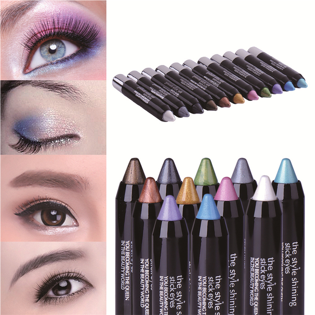 New Waterproof Magic Eyeliner Colours Shimmer Pencil 11