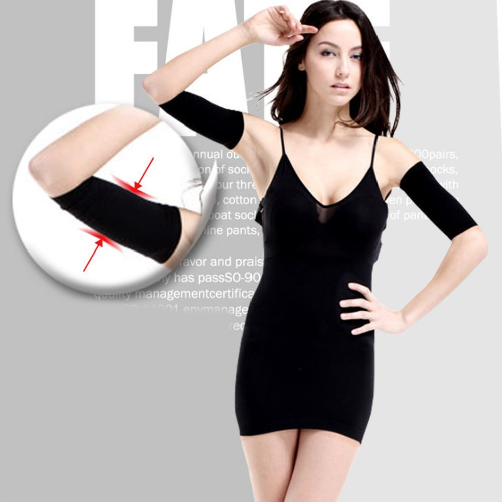 Free shipping Black Ladies Slimming Weight Loss Arm Shaper Thin Cellulite Fat Burner Wrap Belt