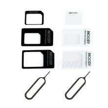 Kris 3 In 1 Convert Nano SIM Card to Micro Standard Adapter Cell Phones Accessories For iPhone 6 5 5S 4S Samsung HTC