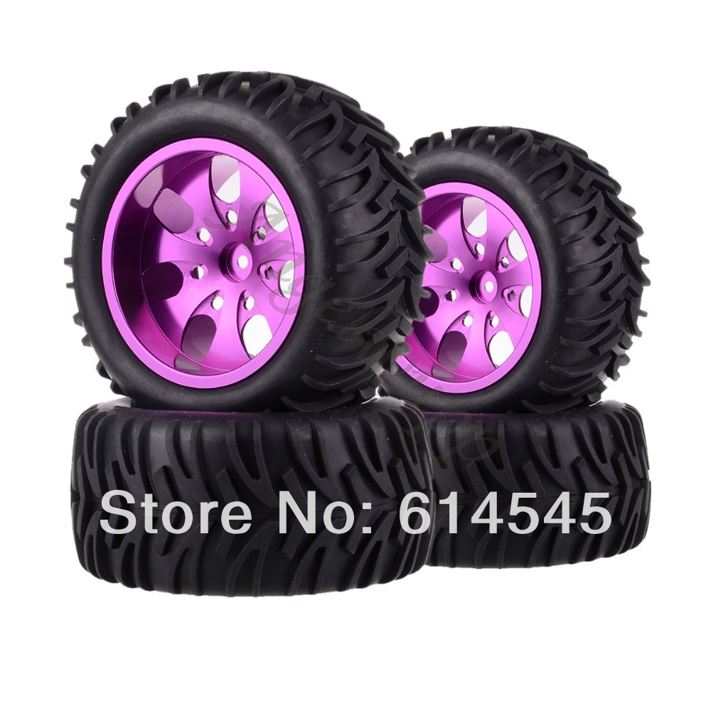88110 Wheel Rim & Tyre Tires 12MM 4xRC Monster Truck Bigfoot Metal 1:10 Wheel Rim & Tyre Tires 12MM HEX 4pcs lot 2 2 rubber tires tyre plastic wheel rim 12mm hex for redcat exceed hpi hsp rc 1 10th off road monster truck bigfoot