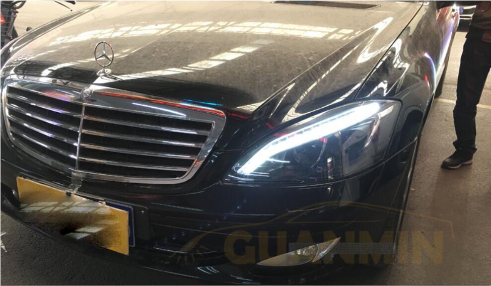 How To Adjust Headlights >> 2pcs W221 Headlights 2005 2006 2007 2008 2009,fit car ...
