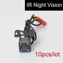 10PCS Car Auto Automotive Front View Forwards Camera 4 Infared Night Vision IR Lights Free 6M / 20FT RCA Video Extension Cable