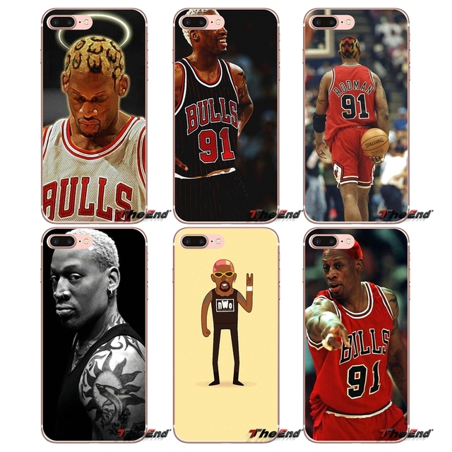 Dennis Rodman Basketball Bulls Star Case For iPhone X 4 4S 5 5S 5C SE 6 6S 7 8 Plus Samsung Galaxy J1 J3 J5 J7 A3 A5 2016 2017
