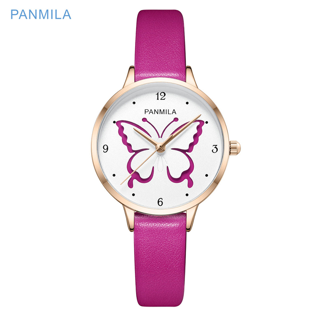 3D Hollow Batterfly Big Dial Women Watch Ladies Leather Watches For Student Girls Waterproof Wristwatch Fashion Gift Relogio