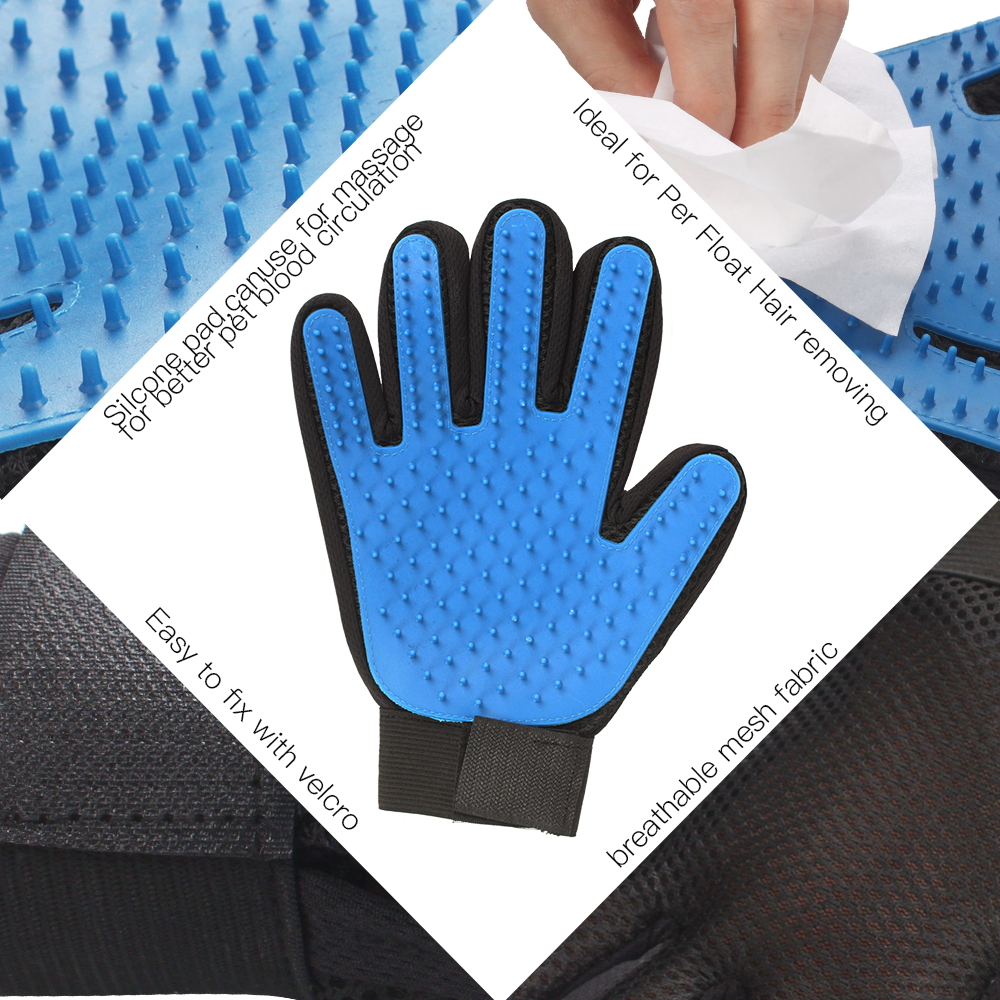 Silicone Pet Grooming Glove Brush 3