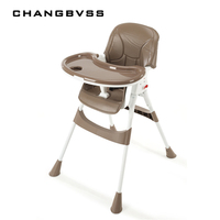 Children's dining table and baby dining chair portable foldable multifunctional Happy baby Highchair Adjustable and Foldable