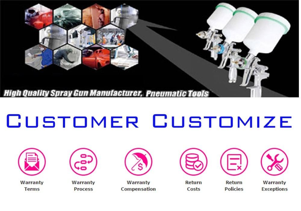 CUSTOMIZE ORDER :: HVLP/RP/LVMP Paint Spray Gun :: Freight Difference Compensation