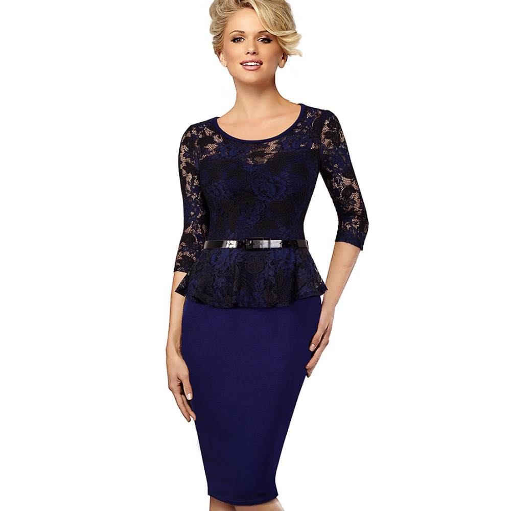 Lace Peplum Dresses for Women